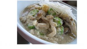 白味噌風味のおからきのこスープ