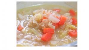 玄米と根菜のミネストローネ