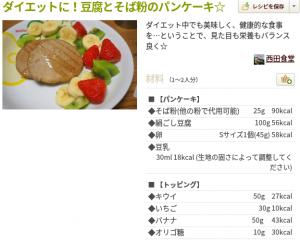 蕎麦粉パンケーキ