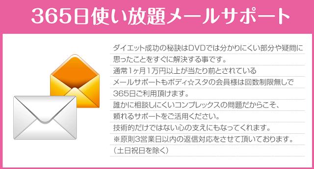 ボディスタメールサポート