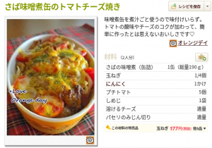 さば味噌煮缶のトマトチーズ焼き