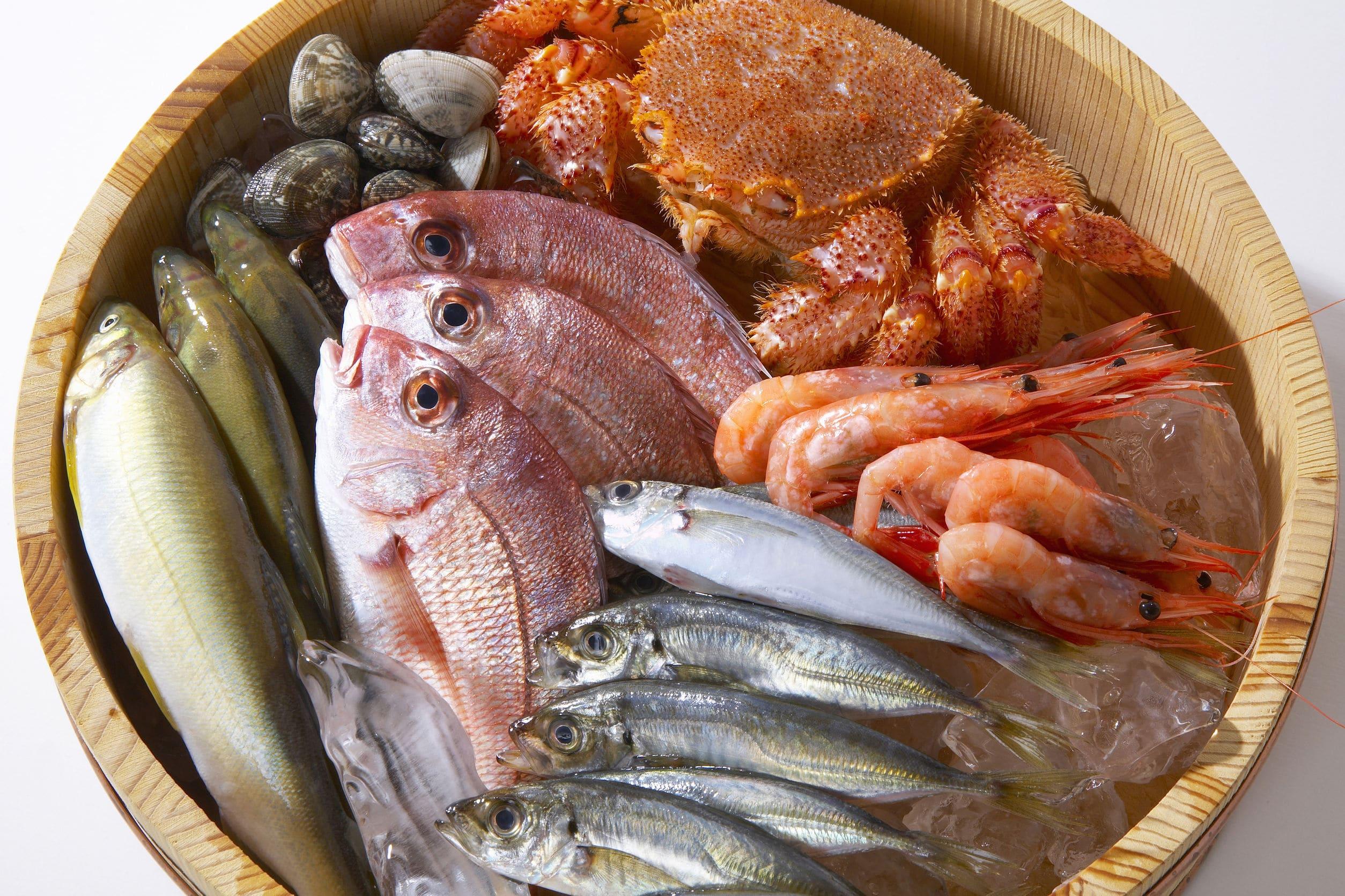 低カロリー高たんぱく魚介類