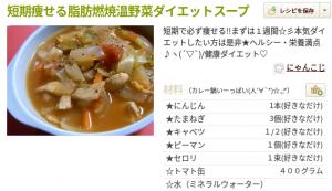 ささみと野菜スープ