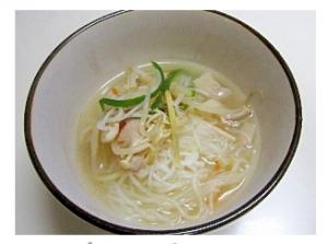 しらたきラーメン鶏がらスープ