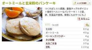 オートミールと玄米粉パンケーキ