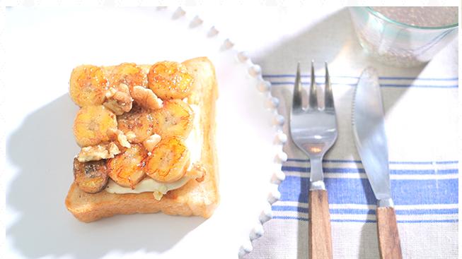 ローラの休日バナナクリームチーズトースト
