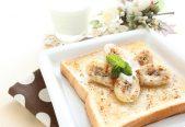 バナナクリームチーズトースト