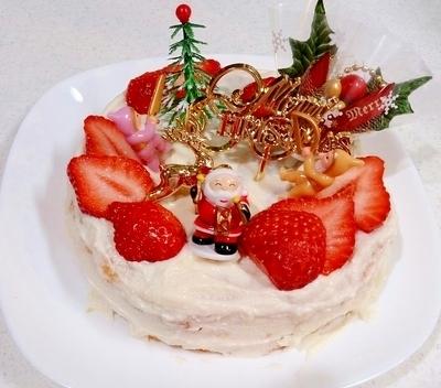 レシピブログ低カロリークリスマスケーキ