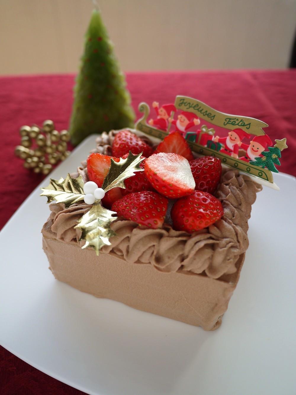 クックパッド低糖工房クリスマスチョコレートケーキ