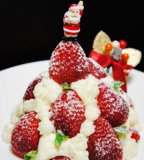 レシピブログ簡単・低糖質クリスマスケーキ