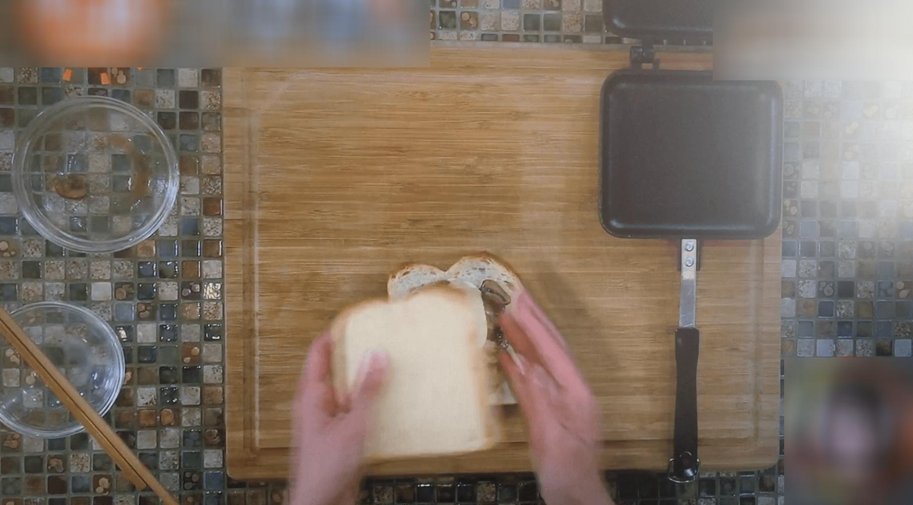 ごちそうホットサンドー食パン・モッツァレラチーズ2