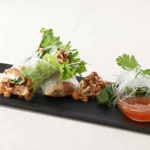 ドライ納豆とイベリコ豚のライスペーパーロール楽天レシピ