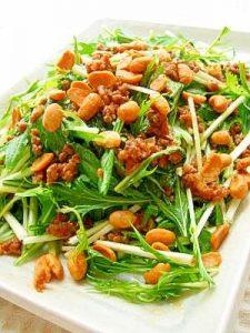 水菜とドライ納豆のサラダ楽天レシピ